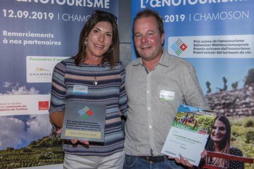 Prix Suisse de l'Oenotourisme 2019 à Chamoson