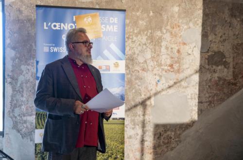 Notre modérateur et animateur de la journée, Pascal Besnard - Prix suisse de oenotourisme - 03.09.2021 - Château d'Aigle