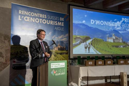 Le Président du Jury (Robert Cramer) - Prix suisse de l'oenotourisme - 03.09.2021 - Château d'Aigle