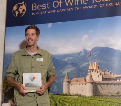 Abbaye de Salaz (Michel Kropf) - Prix suisse de l'Oenotourisme catégorie Artisan